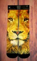 MENS ODD SOX LION CREW SOCKS ONE SIZE
