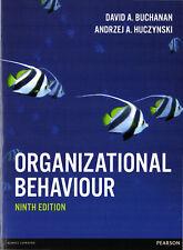 Organizational Behaviour by David Buchanan and Andrzej Huczynski. Paperback 2017