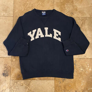 Vintage Yale University Champion Pullover Sweatshirt 90s Size Medium USA