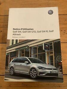 Manuel Notice D Utilisation Volkswagen Golf Sw