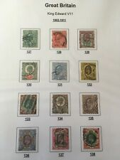 1902-1911 Great Britain King Edward V11 set of used stamps #127-138