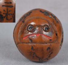 19c walnut netsuke TENGU by NIKO