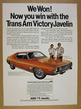 1973 AMC Javelin Trans Am Victory Package car photo vintage print Ad