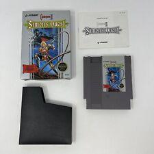 Castlevania II Simons Quest Nintendo NES Box And Manual 1988 Rev-A