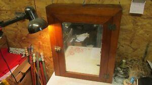 Antique Pine Medicine Cabinet w/ Mirror