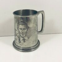 English Pewter  Tankard  Prince Charles And Lady Diana Spencer 1981