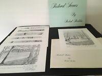 7 ROBERT REDDEN Pen and Ink Drawings of  Pastoral Scenes at Berry college