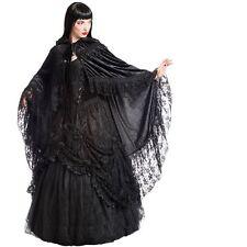 Sinister Cape Velvet Fairytale-Gothic-WGT-Hochzeit-Samt-Spitze