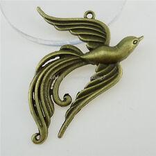 12832 6PCS Antique Vintage Bronze Tone Alloy Phoenix Phenix Pendant