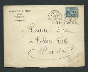 PC 03 - Sage 15c sur lettre de Thiers pour Vollore Ville