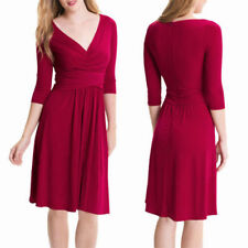 V-Neck 3/4 Sleeve Casual Dresses for Women