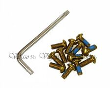 NEW ALLIGATOR DISC BRAKE ROTOR BOLTS SCREWS, SET OF 12 BOLTS + 1 TOOL, GOLD