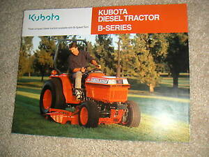 KUBOTA B-Series Diesel  Tractor 2 & 4 WD Color Brochure