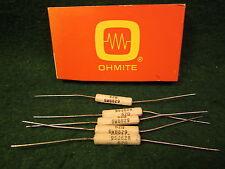 1 5 Pack Ohmite 62 Ohm 5 Watt 5 Wirewound Resistors Nos