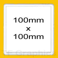 Design Your Own Custom Personalised 100mm Square Acrylic Drinks Coaster