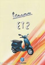 Vespa ET2 50 Motorroller Prospekt 1996 scooter brochure Broschüre Roller Italien