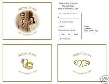(60) 50th WEDDING ANNIVERSARY RSVP POSTCARD STYLE