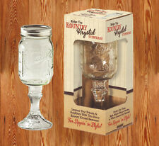 Western Decor Kountry Krystal Stemware Ball/Mason Jar 16 Oz. D-Lux Sippin Glass