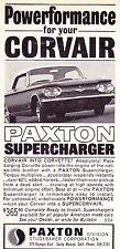 1964 CHEVROLET CORVAIR / PAXTON SUPERCHARGER  ~  ORIGINAL SMALLER PRINT AD