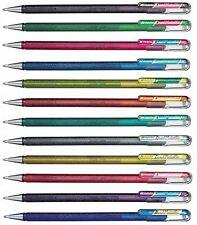 Pentel Hybrid Dual Metallic Gel Ink Rollerball Pens - Assorted - 12 Pack