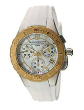 TechnoMarine Cruise Medusa Women's 40mm Chronograph Watch TM-115089 White/Gold