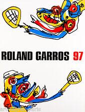SAURA ANTONIO AFFICHE ROLAND GARROS 1997 EXCELLENT ÉTAT POSTER