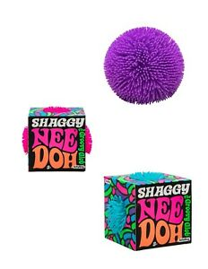 Nee-Doh Shaggy  Squishy,Squeezy, Stress Balls Set Party Bundle 3Pack Schylling
