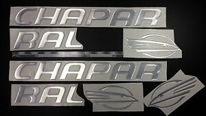 """chaparral boat emblem 32"""" chrome + FREE FAST delivery DHL express - raised decal"""