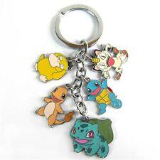 Charmander Anime Cartoon Meowth Squirtle Pokemon Keychain Key Ring Psyduck
