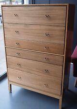 Vintage 1960s Stag walnut veneer chest of drawers