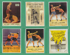 BOXING  -  SPORTING  PROFILES - SET OF X 25  JOE  LOUIS  BOXING  CARDS  -  2000