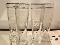 Goose Island Beer Four Star Pilsner Tall Beer Glasses Set of 4