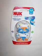 2pc NUK Orthodontic Silicone Pacifiers 0-6m BPA - Pink Blue Hearts Diamond