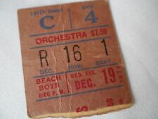 BEACH BOYS Original__1973__CONCERT TICKET STUB __Madison Square Garden__VG+