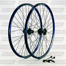 "Pure XCR Blue 26"" mountain bike wheel set, 26"",Shimano Viam M475 Disc, DT Swiss"