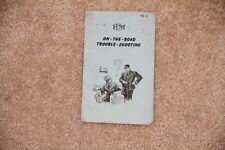 ~ Vintage Electro Motive On The Road Trouble Shooting Manual Guide Booklet 1949