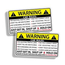 2Pcs Vehicle Rules Funny Car Sticker Truck Window Decal Safety Warning Auto uytr
