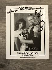 Diamond Dallas Page And Kimberly Anthony Autograph Signed Throwback Wcw Wrestlin