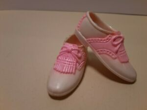 Vintage Barbie Ken's cleat golf shoes pink and white. Rare.