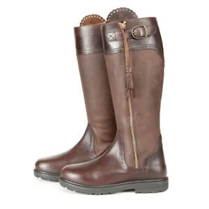 Moretta Carina Spanish Boots Brown Leather Side Zip Boots  STD UK 7 Rrp £169