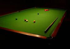 Incorniciato stampa-SNOOKER TABLE straziata UP READY (foto poster arte BILIARDI)
