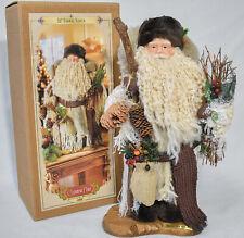 "*Grandeur Noel Collectors Edition 2000 16"" Fabric Santa on Display Stand"