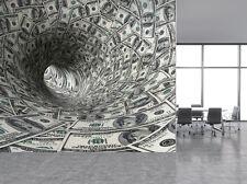 Dollar 3D Wirbel Tunnel Fototapete Wandbild (4982126) Geld