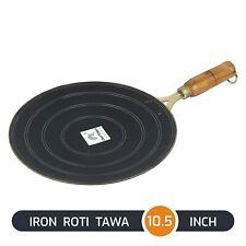 Iron Tawa for Roti/Chapathi/Chapati with Wooden Handle 26 cm