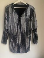 BLACK SILVER SPARKLY TOP 14 GLAM CLUB XMAS SUMMER HOLIDAY TOWIE PARTY CELEB BOHO