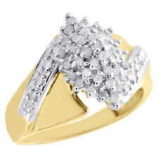 Hand Ladies Cocktail Ring 0.50 Ct 10K Yellow Gold Diamond Cluster Marquise Right
