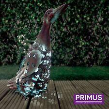 Hand Crafted Metal Solar Duck LED Light Decorative Garden / Patio Bird Ornament