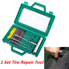 Car Tubeless Tire Repair Plug Kit Rasp Needle Patch Fix Tool Puncture Wheel Tool