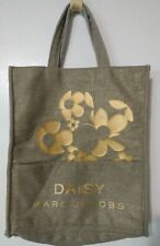 Marc Jacobs Daisy Fragrance Tote Hand Bag Burlap Cloth Shopping Beach Bag Gold