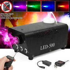Nebelmaschine 500W Mit Funk Fernbedienung 3 RGB-LED Rauch Fernbedienung KTV DJ